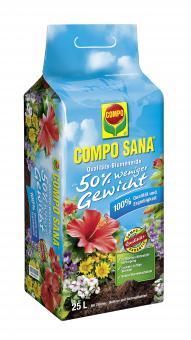 COMPO SANA® Qualitäts-Blumenerde ca. 50% weniger Gewicht, 25 L