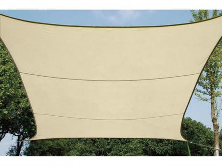 Perel wasserdurchlässiges Sonnensegel Viereck 5 x 5 m champagne