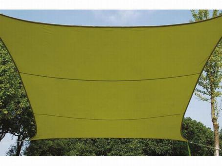 Perel Sonnensegel Viereck 5 x 5 m lime grün