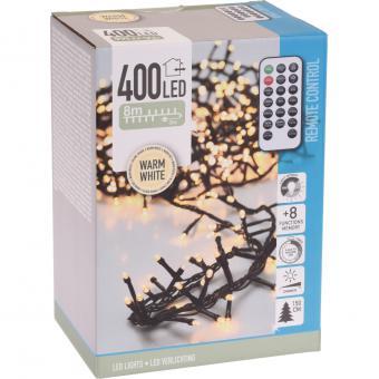 Koopman Cluster-Lichterkette 400 LEDs warmweiß