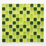 Mosaikmatte Quadrat Crystal mix hellgrün/grün/dunkelgrün
