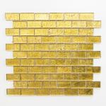 Mosaikmatte Brick Crystal uni gold Struktur